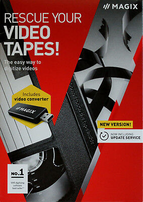 MAGIX Rescue Your Videotapes software with USB video converter & SCART Included