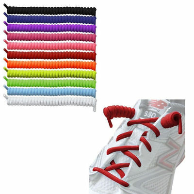 1pair Lazy No Tie Curly Shoelaces Single Colour Elastic Shoe Laces for Sneakers