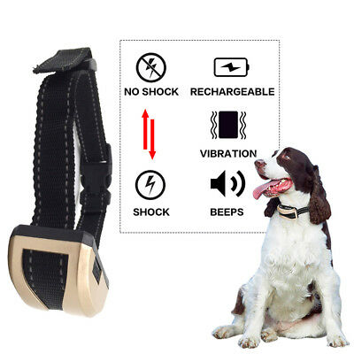 Anti No Bark Shock Dog Trainer Stop Barking USB Pet Training Control Collar VNO2