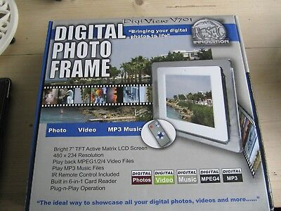 Digital photo frame - DigiView V701, for photo, video and MP3 music