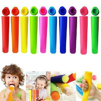 6X Silikon Push Up Stick Pop Yogurt Lolly Eiswürfelformen Eiswürfelform!