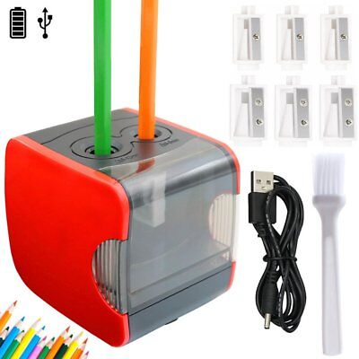 Normei Electric Pencil Sharpener Double Holes, Battery Powerd or USB Charging,