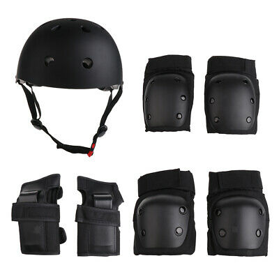 7pcs Kids Bicycle Helmet with Knee Elbow & Wrist Pads Set Sports Protection