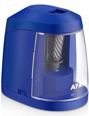 AFMAT Electric Pencil Sharpener for Kids  Adults, Helical Blade, AC or Battery