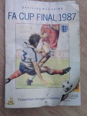 1987 Coventry V Spurs Autographed Official Fa Cup Final Programme.