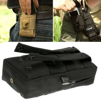 Herren Tactical Molle Belt Pack Hiking Camping Bauch Tasche Army Military .