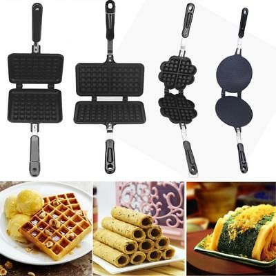 Kitchen Gas Nonstick Waffle Cone Making Mold Mould Baker Egg Roll Baking Tool HG