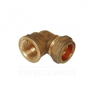 BRASS Plumbing Pipe Compression Metric to BSP Female Elbow.Many Sizes