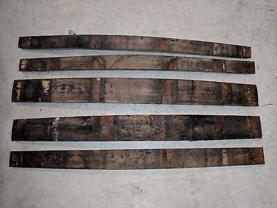 Genuine Used Retired Whiskey Barrel Staves (Lot of 5) Re-purpose Whisky Bourbon