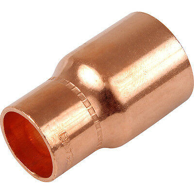 Copper Plumbing Pipe REDUCING Reducer Coupler End Feed. choose size F x F *