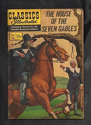 Classics Illustrated #52 G+  Hrn142 (The House Of Seven Gables)