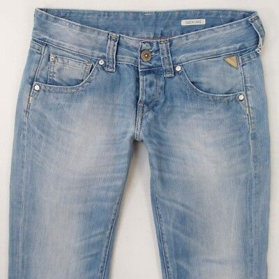 Details about Womens Replay WX676 REARMY Stretch Slim Bootcut Blue Jeans W29 L28 UK Size 10