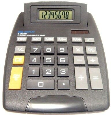 Jumbo Desk Top Calculator 8 Digit Electronic Large Desktop School Calculater New