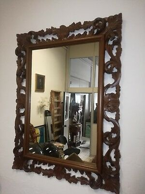 Large wall mirror frame wood carved 90cm (h) x 68cm masterpiece