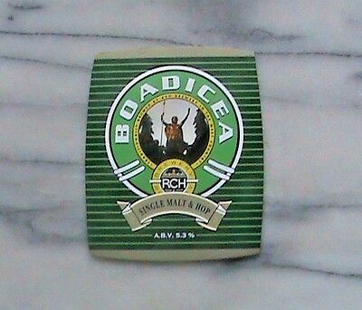 Rch Boadicea Real Ale Beer Pump Clip Sign