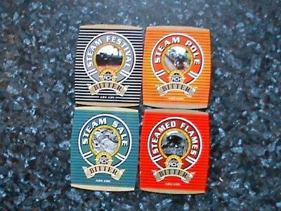 RCH REAL ALE BEER PUMP CLIP SIGNS 4X Various Steam Locomotives Theme