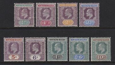 Northern Nigeria 1902 set of 9 - lightly mounted / mounted mint £100