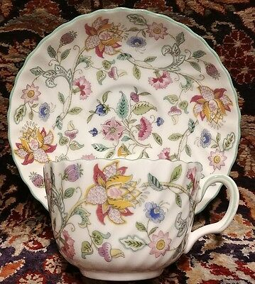 Minton HADDON HALL green trim Cup and Saucer (multiple available)