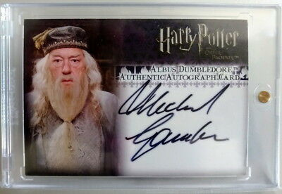 Harry Potter & The Order Of the Phoenix MICHAEL GAMBON DUMBLEDORE AUTO ON CARD