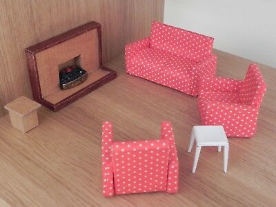 VINTAGE BARTON\'S/LUNDBY\'S? Dolls House Furniture Living Room Set 1 ...