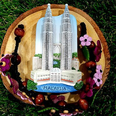 Fridge Magnet PETRONAS TOWER MALAYSIA Souvenir Gifts travel memory vintage
