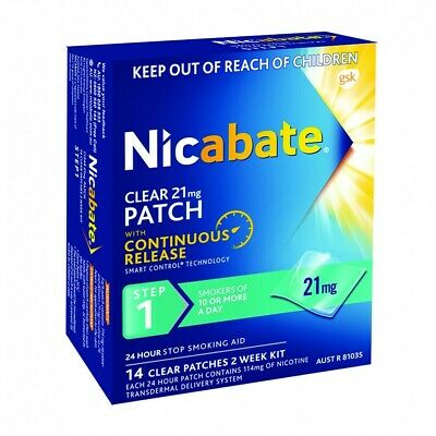 New Nicabate Clear 21mg Patch Step 1 Patches 14