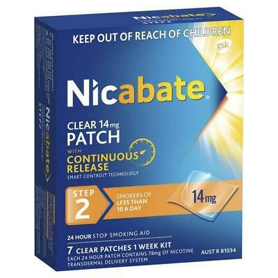 New Nicabate 14mg Clear Patches 7