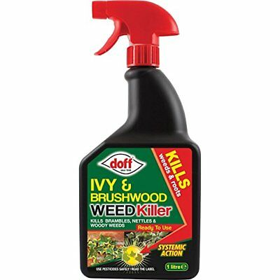 Doff Ivy & Brushwood Weed Killer Spray contains Glyphosate Systemic Weedkiller