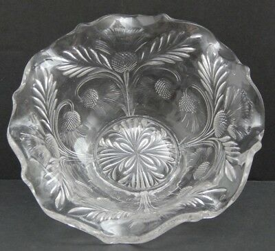 """Inverted Thistle-Clear by Mosser (Ohio) 2 1/2"""" Clear Flat Base Bowl"""