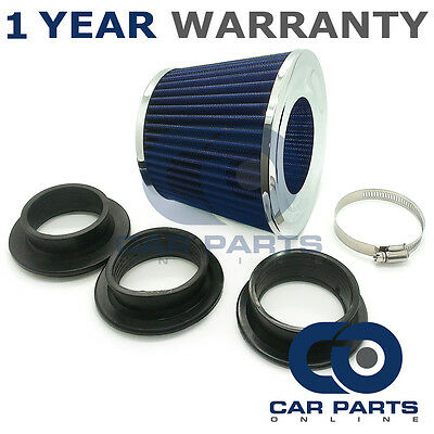 Sports Performance Fits 99% Cars Blue & Chrome Universal Induction Air Filter