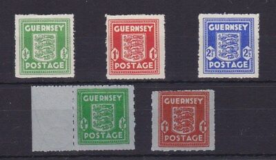 Gb Guernsey Wartime Arms Issue Sg1-5 Unmounted Mint