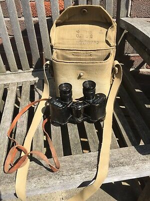 Military WW2 Officers No.2 MK3 Taylor Hobson Binocular In Canvas Case