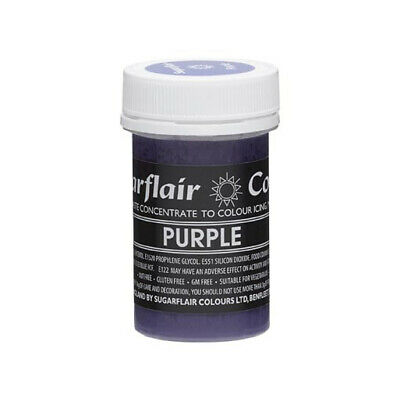 Sugarflair PURPLE Pastel Edible Food Colouring Colour Paste Gel For Icing 25G