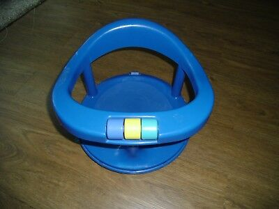 Safety 1st First Blue Swivel Baby Bath Tub Chair Seat Suction Cup