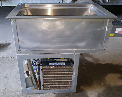 """Wells One Pan Single Well RCP-100 17"""" Drop In Refrigerated Cold Food Cabinet"""