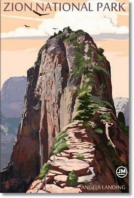 "Poster Travel Zion National Park Angels Landing Photo Fridge Magnet Size 2""x3"""