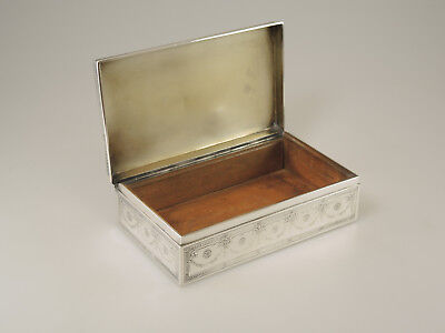 Large Sterling Silver CIGARETTE Box by TIFFANY and Co c1900
