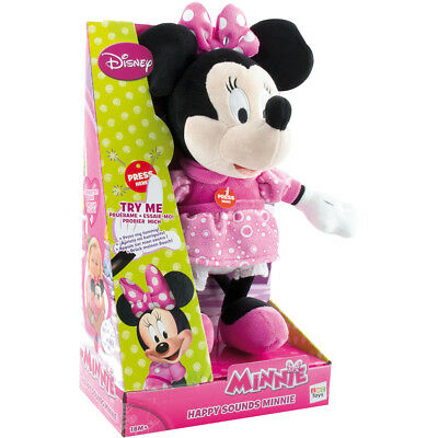 IMC Toys Plüsch Minnie Mouse lacht Happy Sounds sprechende Minni Disney NEU&OVP