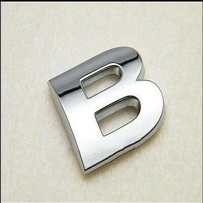 3D Letter ABS Chrome Alphabet Car Truck StickerS Emblem Badge Decals 1PCs B