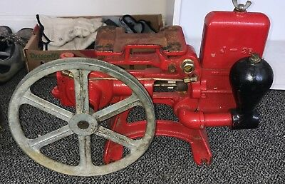 """Antique Jim Brown Water System Cast W/ Wheel Cast Brown Fence & Wire Company 20"""""""