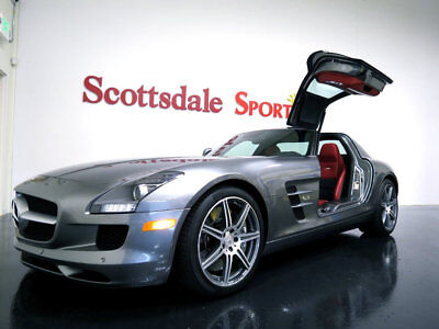 Mercedes-Benz SLS AMG COUPE * ONLY 5,977 Miles...Gullwing 2011 MBZ SLS AMG * 5K Mi, GREY-RED, CARBON, B&O, PERFORMANCE SUSPENSION PKG.