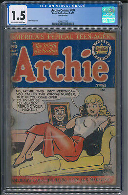 Archie Comics 50 - Classic GGA Cover 1.5 CGC Hard to find!
