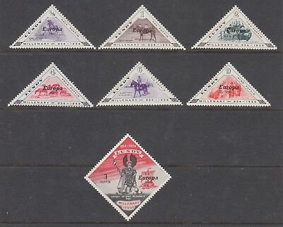 Lundy 1961 Europa  Sc 132-138 Complete Mint Never Hinged