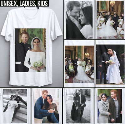 Harry and Meghan Markle T Shirt Royal Family Wedding dress Prince photo Queen