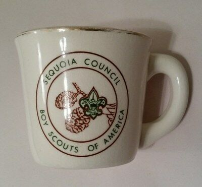 Vintage Bsa Boy Scouts Of America Sequoia Council Coffee Tea Mug Cup