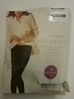 Ingrid & Isabel Maternity Everyday BellaBand, Size 1, Black, Pre- Pregnancy Pant