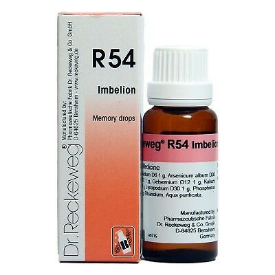 DR  RECKEWEG R54 Memory Drops 50ml Homeopathic Remedies
