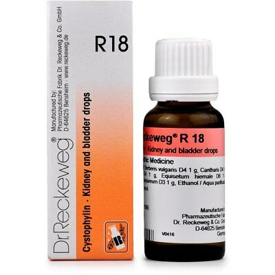 Dr. Reckeweg R18 Kidney and Bladder Drops 50ml Homeopathic Remedies