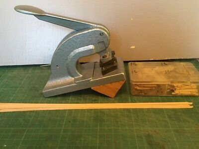 P4/EM Ply rivet hole puncher and press + track gauges and Timbers + rivets