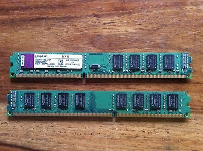 2 x Kingston KVR1333D3N9/2G, 2GB, PC3-10600 (DDR3-1333), SDRAM, 1333 Mhz, DIMM